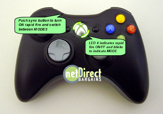 XBOX 360 RAPID FIRE MODDED Controller 8MODE NEW