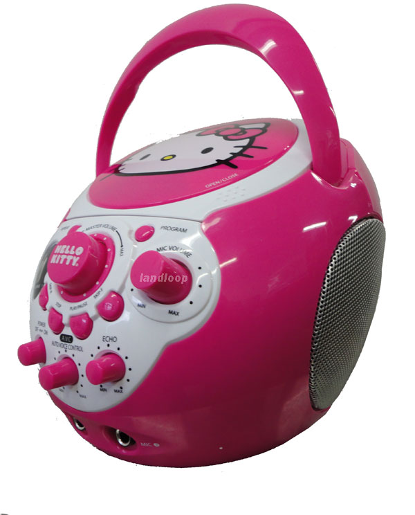 PRO DELUXE PINK HELLO KITTY PORTABLE KARAOKE MACHINE | eBay
