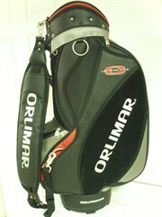 "9-orl-stf-m-stf-blkrd-n: Orlimar Staff Bag 9.5"" 5-way top Black/Red Golf NEW"