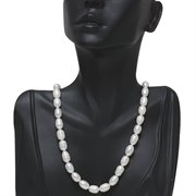 "CC-ZZ-006: 17"" Stunning 10-11mm Genuine Freshwater Cultured Pearl Necklace"