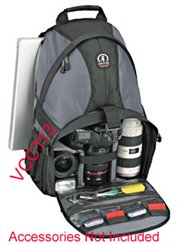 3067-LN: Tamrac 5549 Adventure 9 Camera Backpack Bag Gray/ Black