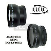 4103---&--RING--3095: 0.45X Wide Angle & 2X Telephoto Lens 52mm & 37MM Wide Angle Lens FOR CANON VIXIA HF11 HF10 HF