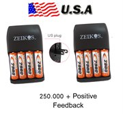 4596--(RD-4595-&-4595)P1: 2 Charger with 8 AA Rechargable battery 2900mAh