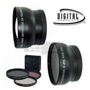 4602-(READY-2945N--&-- FILTER KIT 4261-58MM): 58mm VIVITAR LENS SET 2.2X + 0.43X  KIT+ 58MM FILTER KIT 58MM