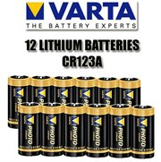 6599=READY(12x-SKU-6598): Battery LITHIUM CR123A VARTA 12 PACK
