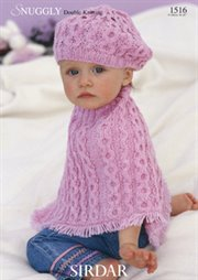 Vintage Knit Baby Shoulderette Poncho Sweater Pattern