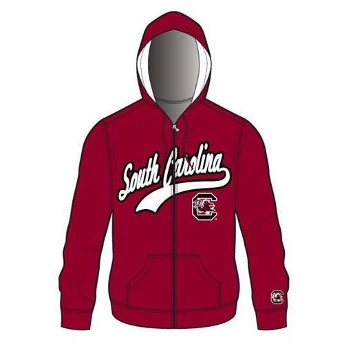 South Carolina Gamecocks Mens Zip Up Hooded Jacket Sweatshirt