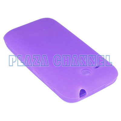 Purple Soft Silicone Cover Case For HTC Freestyle AT&T